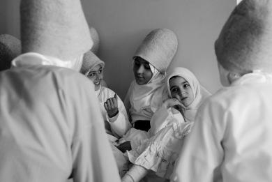Sufi women in Bursa, Turkey.